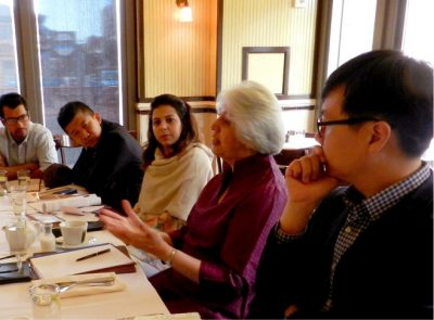 Isher Judge Aluwhalia speaks with Asia Foundation Development Fellows