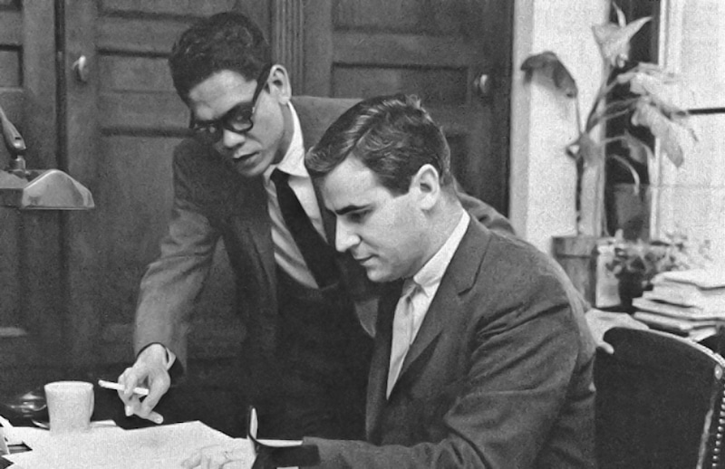 A congressional Fellow from the Philippines sponsored by The Asia Foundation working in the office of Representative John V. Lindsay of New York in 1960.