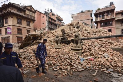 On April 25, 2015, a 7.8 earthquake hit Nepal, followed by an even more devastating quake two weeks later resulting in almost 9,000 deaths, 8 million people affected, and vast swaths of the nation in rubble including the capital, Kathmandu. Photo/Tenzing Paljor