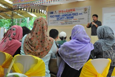 Peace Forum on Harnessing Peace and Security in Marawi City