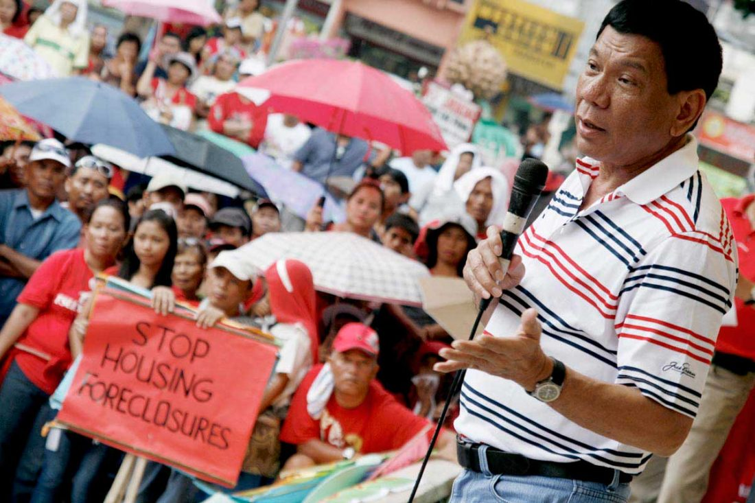Davao City Mayor Rodrigo Duterte has emerged as the presumptive winner in the presidential race. Photo/Flickr user Keith Bacongco