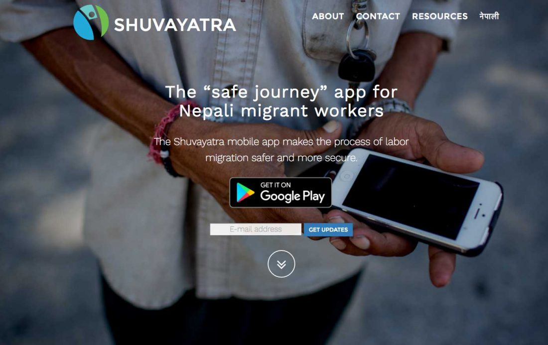 The new Shuvayatra app features information about labor rights, work permits, the application process, local dos and don'ts, and working conditions abroad.