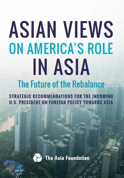 Cover of Asian Views on America's Role in Asia: The Future of the Rebalance