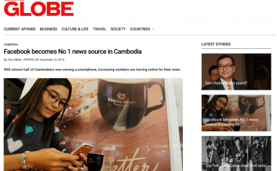 Southeast Asia Globe: Facebook becomes No 1 news source in Cambodia screenshot