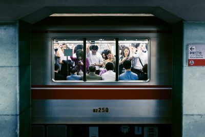 Japan rush hour subway