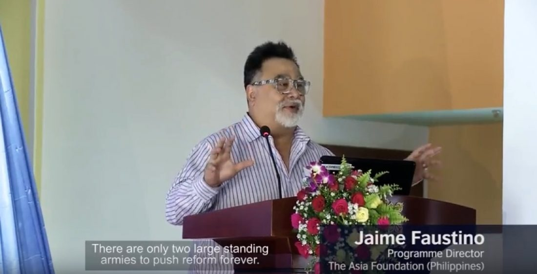 "Jaime Faustino speaks at ""Thinking and Working Politically"" Conference"