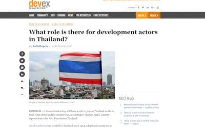 Screenshot of Devex article