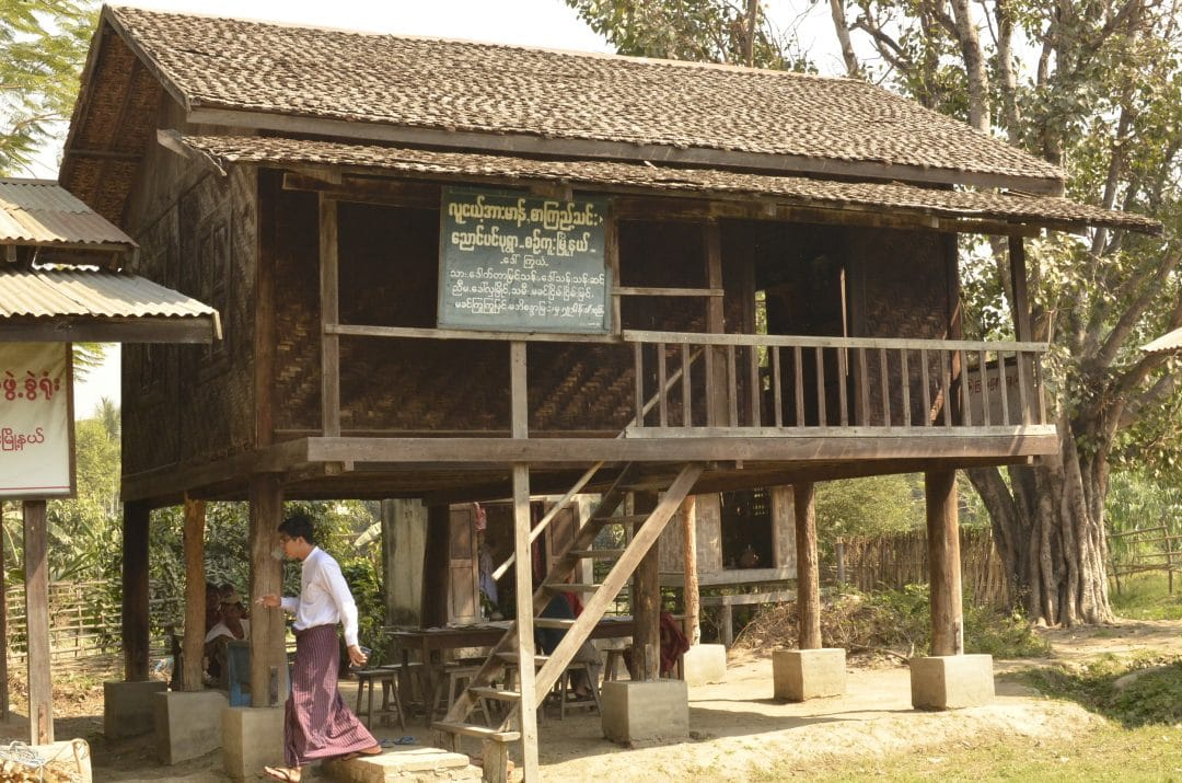 Traditional library in Myanmar