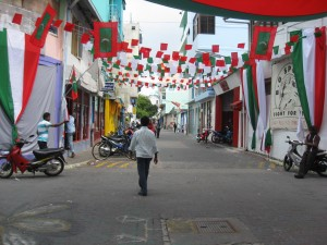 Inauguration Decorations in Male, Maldives