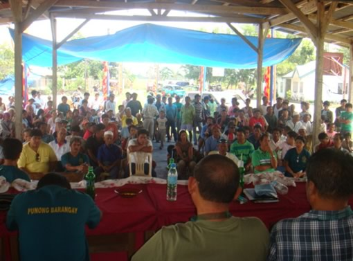 Community Peace Forum and MoU signing in February in Bulucaon, Pigcawayan, Cotabato.
