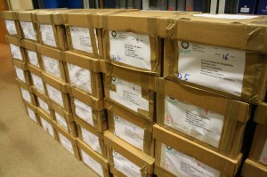 Boxes of texts for Bangladesh legal institutions.