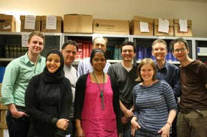 The International Law Book Facility packing crew in London, before the books were shipped to Bangladesh.