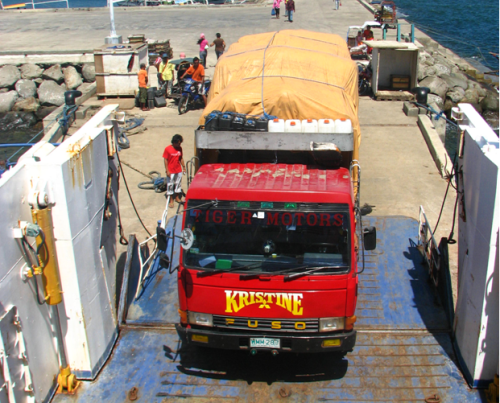 RO-RO truck in the Philippines