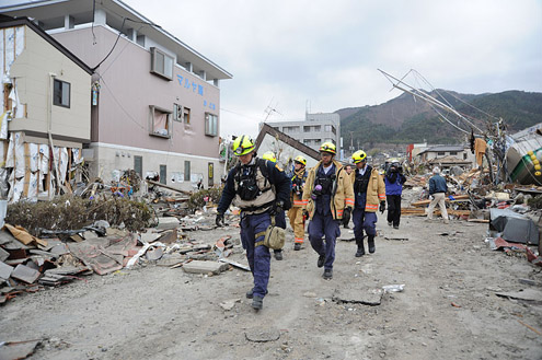 Relief efforts begin after Japanese Earthquake