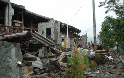 Sichuan earthquake damage