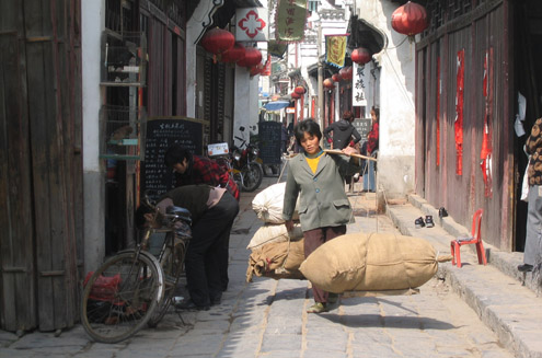 A laborer in China