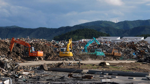 Fields of debris in Tohoku