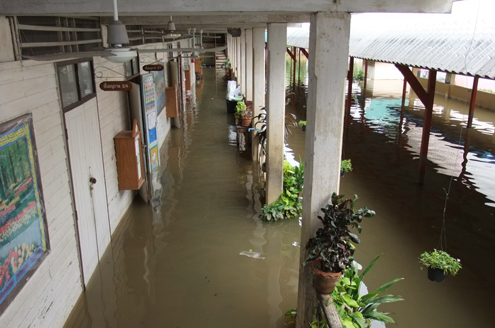 Flood-damaged schools in Thailand