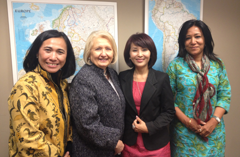 Amb. Melanne Verveer meets with panelists at the Asian Perspectives event in D.C.