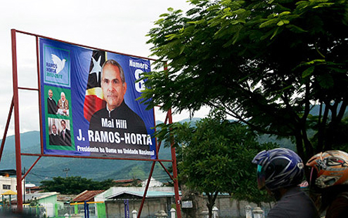 Timor election posters