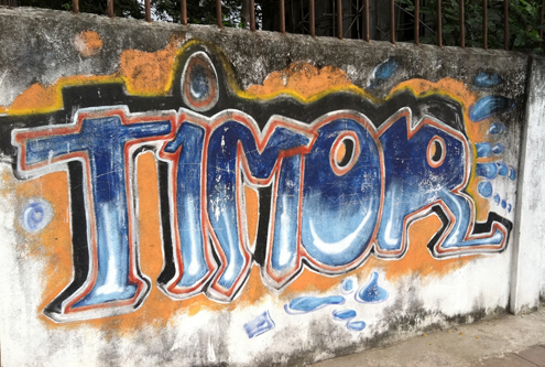 Timor wall graffiti