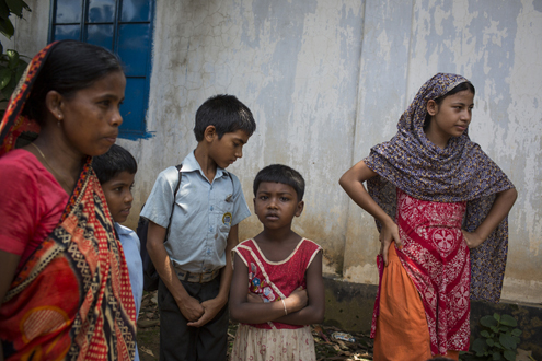 On the outskirts of Dhaka, Ashulia is home to nearly half a million garment workers. Students from School of Hope meet their parents after school.