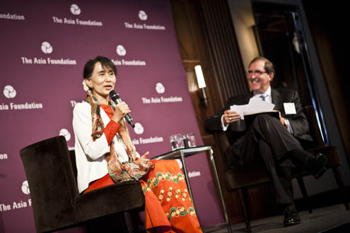 Daw Aung San Suu Kyi speaks at Asia Foundation