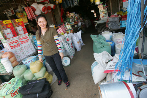 Cambodian small business owner