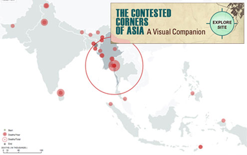 Asia's Contested Corners Data Viz