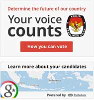 GoogleI ndonesia Elections Map
