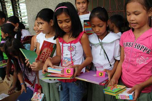 Book donation to Tacloban schools