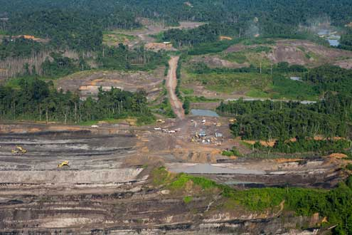 Coal mining area in East Kalimantan