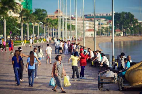 Cambodia is experiencing a rising middle class  which has fueled a boom in smart phone access, now the primary access point for the internet. Photo/Ian Taylor