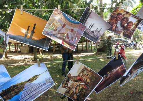 Photographs of Sulu scenery were showcased by the Sulu Photograpeace Club at the POP Art contest.