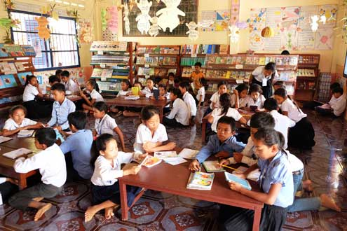Cambodia marked its first National Reading Day on March 11 – a public event that calls on Cambodians to embrace a love of reading. Photo/Wendy Rockett
