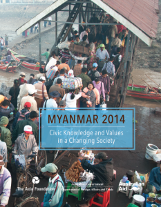 Myanmar Survey 2014 cover